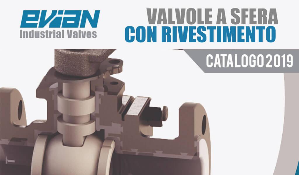 Valvole sfera Evian rivestimento PFA